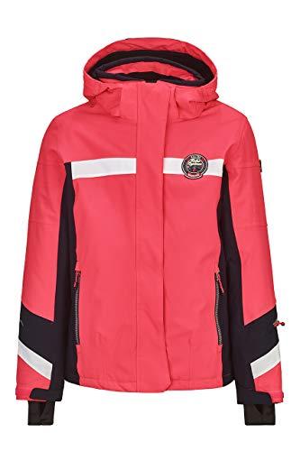 Killtec Mädchen Carmen Jr Skijacke Wasserdicht, Funktionsjacke Mit Abzippbarer Kapuze Und Schneefang, Wassersäule 10000 Mm, neon-Coral, 176