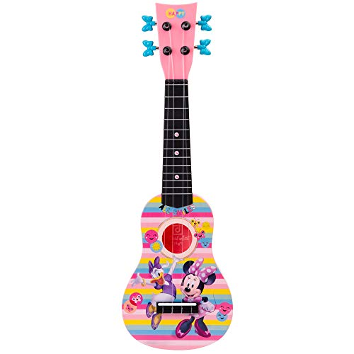 First Act Minnie Mouse and Daisy Duck Toy Ukulele, 20 Inch - Ukulele for Beginners, Musical Instruments for Toddlers and Preschoolers - Your Child?s Favorite Disney Characters