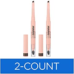 TOTAL TEMPTATION MAYBELLINE EYEBROW PENCIL: Fill in eyebrows with this must-have defining eyebrow pencil, featuring a teardop tip. Shape and blend with the eyebrow spoolie brush, for a softly defined natural-looking brow. DEFINE YOUR BROW: No eye loo...