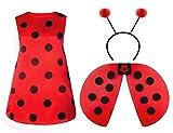 Seawhisper Marienkäfer Kostüm Damen Faschingskostüme Damen Ladybug Karneval Halloween Kostüm 32 34 36
