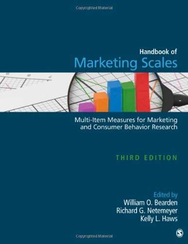 Compare Textbook Prices for Handbook of Marketing Scales: Multi-Item Measures for Marketing and Consumer Behavior Research Association for Consumer Research Third Edition ISBN 9781412980180 by Bearden, William O.,Netemeyer, Richard G.,Haws, Kelly L.