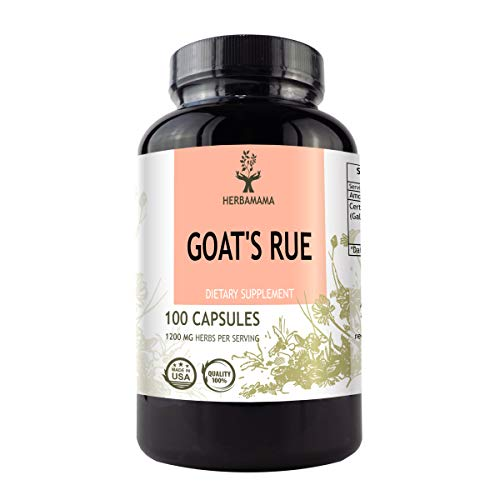 Goat's Rue 100 Capsules 1200 mg | Lactation Supplement | Supports Mammary Tissue Development | Breast Feeding Capsules | Gluten Free | Non-GMO