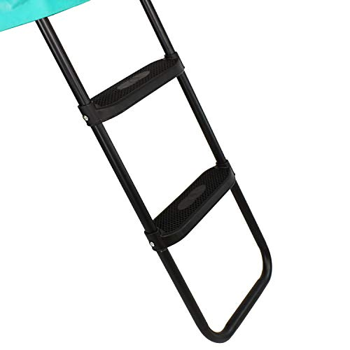 Trampoline Ladder with Safe Wide High Grip Steps Suitable for 6 8 10 12 13 14 15 ft Trampolines (Medium 10ft)