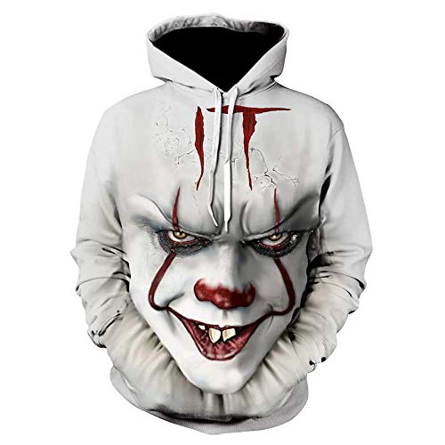 Es Clown Harajuku Sweatshirts Horror Joker Hoodie Halloween-Party Hip Hop Streetwear Moletom-Picture_Color_Size_L