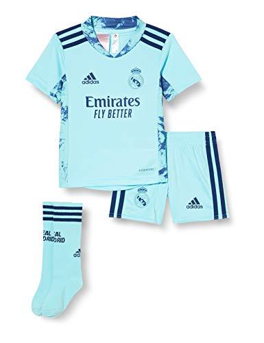 Adidas Real Madrid Temporada 2020/21 Equipación Completa Oficial, Niño, Azul, 7/8 años