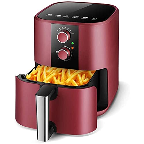 Cucina Friggitrice ad Aria Calda Friggitrice a olio sana 5L, circolazione multifunzionale dell'aria calda, spegnimento automatico, friggitrice di rivestimento antiaderente della famiglia 1350W
