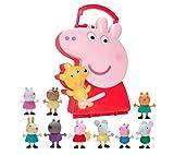 Jazwares Peppa Pig - Maletín de colección de amigos Peppa Pig.