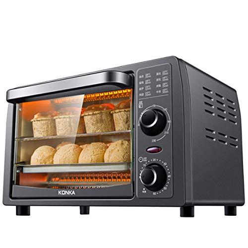 KONKA クッキング電気オーブン多機能ベーキング電気オーブンフードドライヤー 家庭用 食品乾燥機家庭用 温度30°C~230°C と60分のタイミング独立した温度制御ホームベーキングケーキパンタルト1050W(日本語版)
