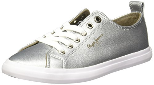 Pepe Jeans Barry Zapatillas para Mujer, Color Plata, 22