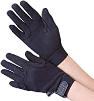 Cotton Riding Gloves Elasticated Wrists Rubber Grips Re-inforced Grips Other Colours Available