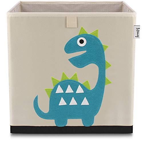 Lifeney baul juguetes I una práctica caja de almacenamiento para cada cuarto de niños I baul juguetes infantil I caja juguetes I almacenaje juguetes (dino 1 beige)