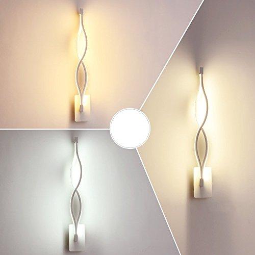 Creative Led moderne minimaliste mur de chevet chambre à coucher Lampe lumière escalier Couloir Couloir Art blanc,lampe,47 * 6.5Cm gradateur de lumière 3-couleurs