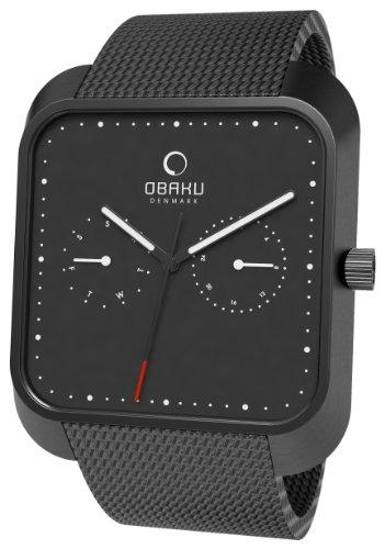 Obaku Harmony - Reloj analógico de Cuarzo Unisex con Correa de Acero Inoxidable, Color Negro