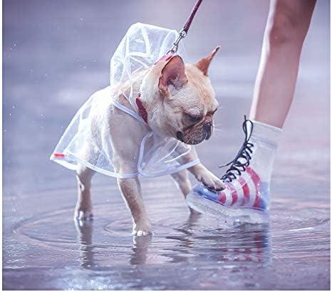 Regenmantelponcho f/ür Kleine und Mittlere Hunde Ducomi Dogalize Dog Raincoat mit Kapuze aus Transparentem Nylon Black, XS Rain Cape Coat Raincoats Cape