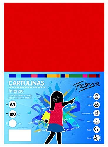 Cartulinas A4 Roja Marca OFITURIA