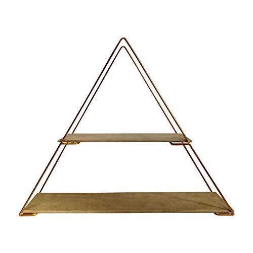 Nicho Prateleira Triangulo Aramado E Madeira Mdf Piramide