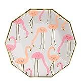 Meri Meri Flamingo große Teller, DIY, Geburtstagsparty-Geschirr – 8 Stück