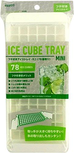 伊勢藤 製氷皿 フタ付き アイスキューブトレーミニ こつぶ 氷78個取り I-538