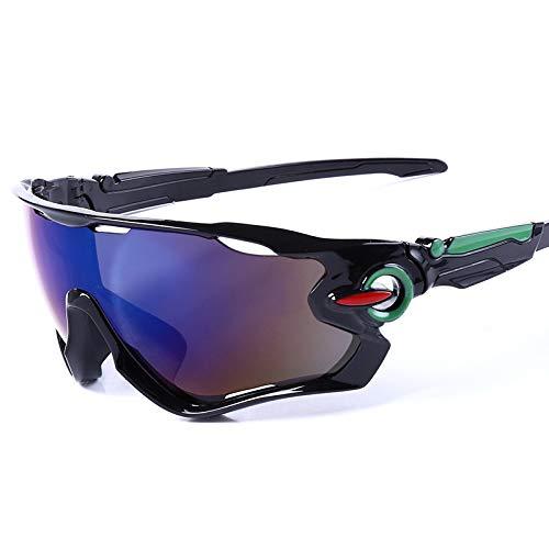 Gafas de Ciclismo de Moda Gafas de Sol Deportivas Gafas de Bicicleta de montaña al Aire Libre Gafas Gafas de Mercurio Negro y Azul Brillante