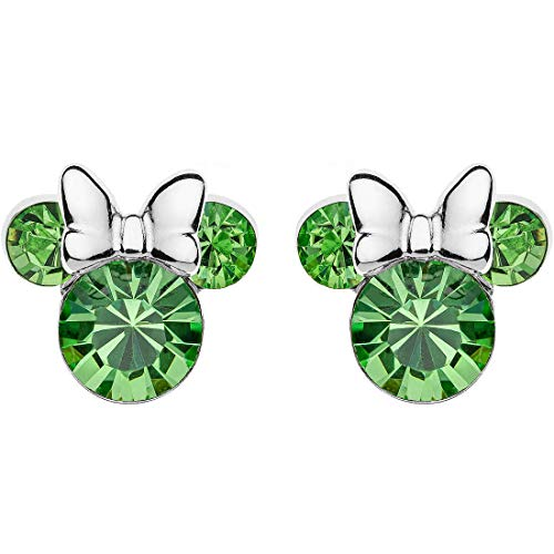 Disney Silver Earrings Girl Mickey Mouse Minnie August E905162RAUGL