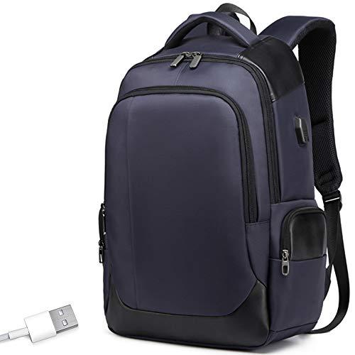 Poooooi Zaino per Laptop Borsa da Viaggio Esterna Scuola Campeggio Presa USB Zaino da Uomo E Donna di Grande capacità,Blu