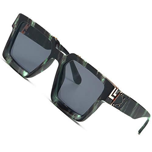 Gafas de sol millonarias retro Gafas de sol cuadradas punk Rock Hip hop Gafas de sol hombres mujeres