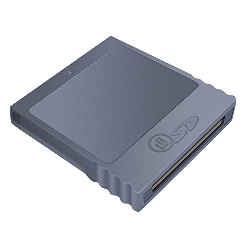 6amlifestyle Nintendo Wii Gamecube llave de memoria SD adaptador convertidor de tarjeta (tarjeta SD no incluida)