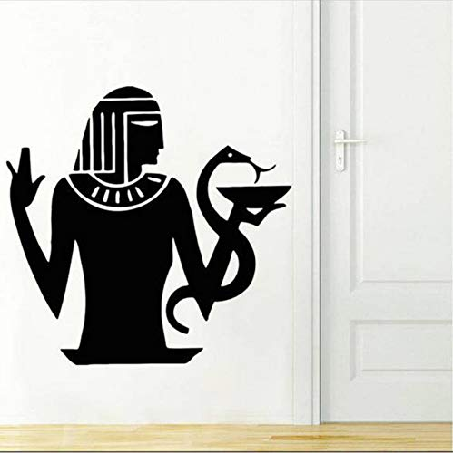 Ägyptische Wandtattoo Alte Kunst Ägyptischer Gott Auge Wandaufkleber Pharao Pyramiden Kunstwand Removbale Home Schlafzimmer Dekor 58x57 cm
