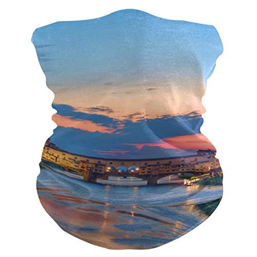LUPINZ - Pañuelo mágico, máscara de pesca puesta de sol sobre Florencia Italia, patrón de tubo, pasamontañas para el cuello y bufanda deportiva
