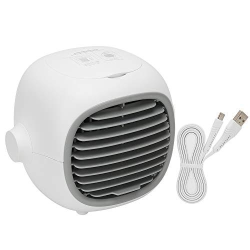 fuwinkr Mini PortáTil Ventilador De Aire Acondicionado, Humidificador Enfriador De Aire De Escritorio con RegulacióN Continua, USB Ventilador De RefrigeracióN por Agua para Casa Oficina Auto