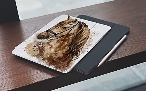 MEMETARO Funda para iPad 10.2 Pulgadas,2019/2020 Modelo, 7ª / 8ª generación,Dibujo Acuarela Cabeza De Caballo Smart Leather Stand Cover with Auto Wake/Sleep