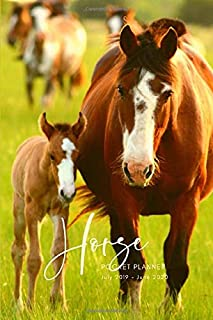 Horse Pocket Planner July 2019- June 2020: School Student Daily Planner; Small Mini Calendar To Fit Purse & Pocket; Ultra Portable Slim Academic ... Journal Organizer With Motivational Quotes