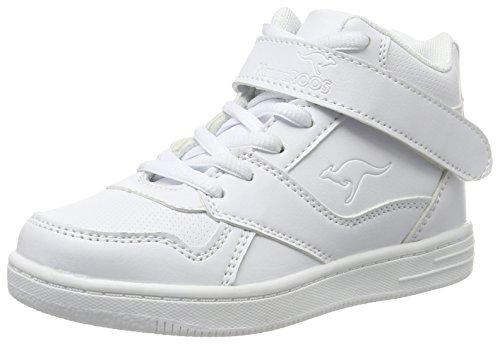 KangaROOS Skyline Kids Unisex-Kinder Sneaker, Weiß (White 0000), 31 EU