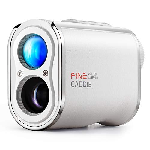 【公式】FineCaddie(ファインキャディ) J300 ホワイト ゴルフ レーザー距離計 0.1秒台測定 1,093yd 充電式 光学6倍望遠 高低差測定 スロープモードON/OFF PUレザー IPX4防水 超軽量 ケース付き 保証2年 レーザークラ
