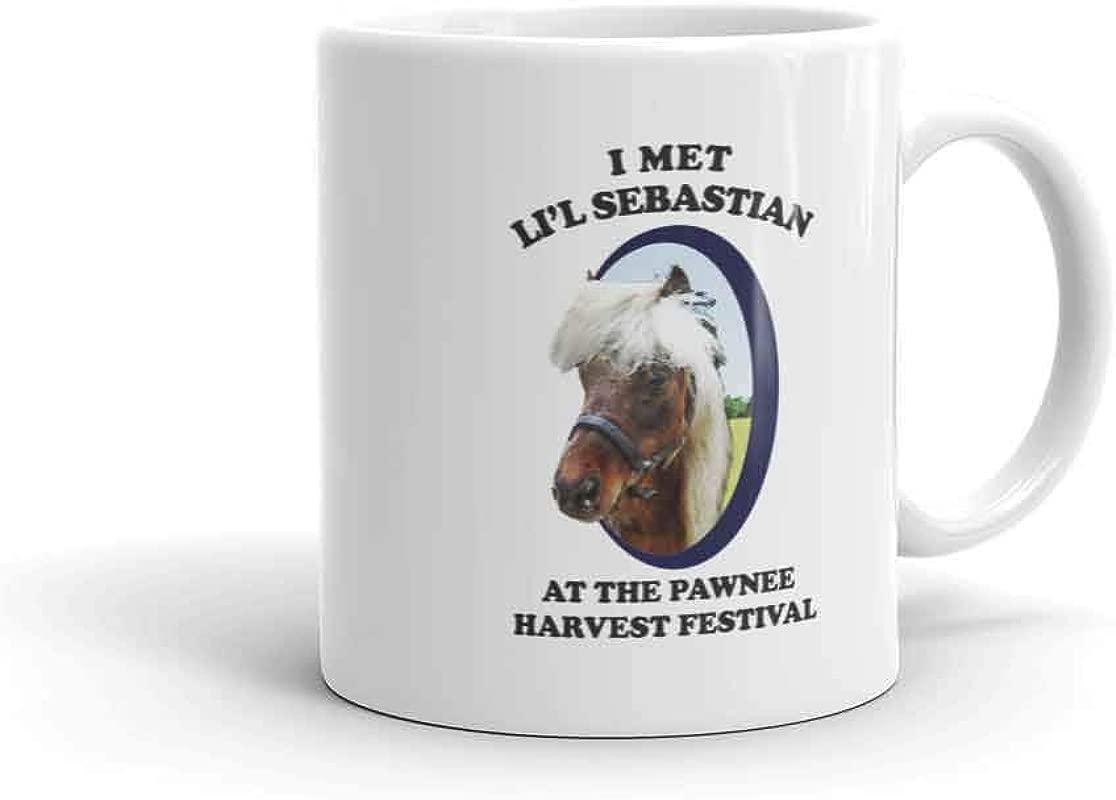 Parks And Recreation Li L Sebastian Pawnee Harvest Festival Ceramic Mug White 11 Oz Official Coffee Mug