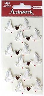 COEUR ARGENT ARTOZ illustration 3d-sticker MARIAGE AMOUR