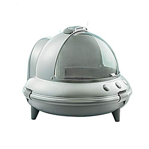 Qazxsw Robot per lettiera Cassetta per lettiera autopulente Toilette per Gatti Completamente Chiusa Cassetta per lettiera per Gatti autopulente Grande Deodorante Anti-Schizzi Feci di Gatto Pentola