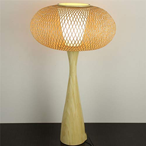 TATANE creatieve bamboe-tafellamp, eenvoudige bamboe-nachttafellamp in Japans/Chinese stijl werkkamer van massief hout zen-tafellamp retro-lantaarn