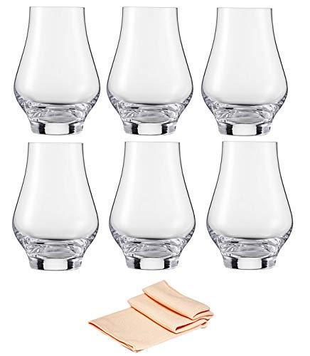 Dekomiro Schott Zwiesel Spirit of Nosing Tasting Set 6 Stück für Gin Whisky und Rum mit Glasreinigungstuch Set
