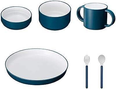 tak KIDS DISH ギフトボックス カトラリー スタンダード ネイビー/タック キッズディッシュ 食洗機対応 (ネイビー) 子供用食器セット JTN-1001-NV