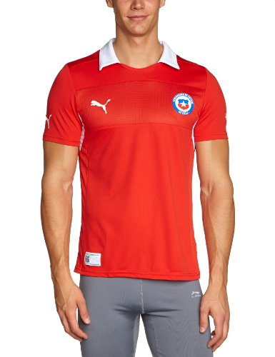 PUMA Herren Trikot National Teams Replica Chile, puma red-White-Chile Home, L, 741986 10