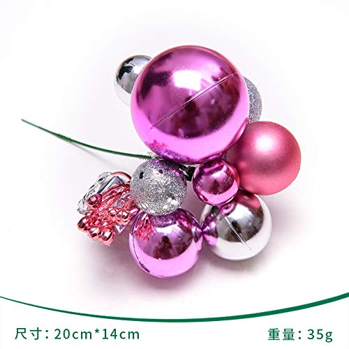 QZXCD Bola de Navidad Decoraciones Creativas del árbol de Navidad Cadena de Corte esférica de 21 cm Bola de Navidad Rama Cadena Corona de ratán Suministros de decoración F