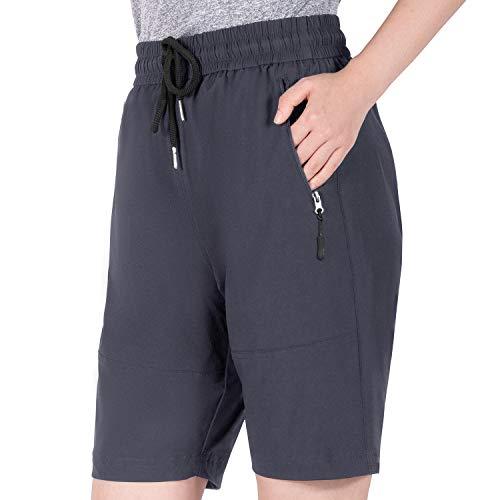 Cycorld MTB Hose Damen Fahrradhose, MTB Shorts Damen Mountainbike Hose, Atmungsaktiv, Schnelltrocknende (XXL, Neue Grau)