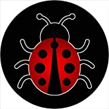 TIRE COVER CENTRAL Ladybug Insect Bug Spare Tire Cover fits Camper, Jeep, RV, Scamp, Trailer(Drop Down Size menu