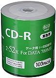 CD-R データ用 52倍速 ワイドプリンタブル CR80GP100_BULK 1パック(100枚)