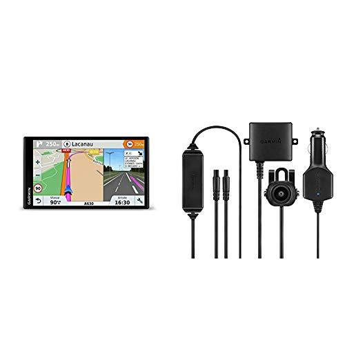 Garmin Drivesmart 61 EU LMT-S Navigatore 6.95' Edge-To-Edge Smart, Mappa Italia Europa Completa, Agg + Garmin BC30 Telecamera Posteriore Wireless, Nero