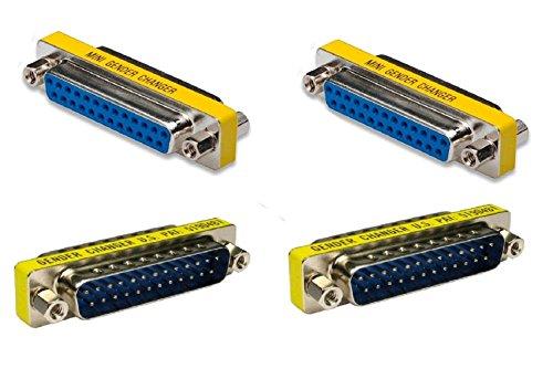 Ruibo Sike 25 pin 2 macho a macho 2 hembra a hembra paralelo DSUB cambiador de género adaptador - DSUB - IEEE-1284 - D25 - convertidor de cable - Adaptador de puerto