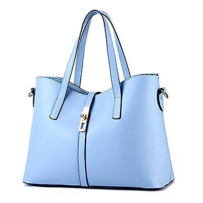 TIBES luxe Pu cuir sac à main sac fourre-tout pour le collège des femmes