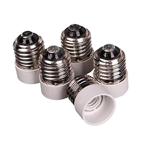 5 PCS E27 A E14 Adaptador de zócalo Tornillo mediano para bombilla de base intermedia Bombilla Adaptador de enchufe reductor