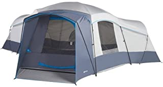 16 Person 23.5' x 18.5' with 3 doors and 3 rooms Cabin Tent in Grey/Blue